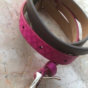 JCrew colorbock skinny belt XS